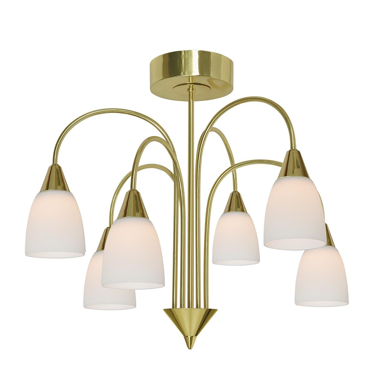 Deckenleuchte casa metall gold 6 flammig lux a g nstig for Deckenleuchte gold