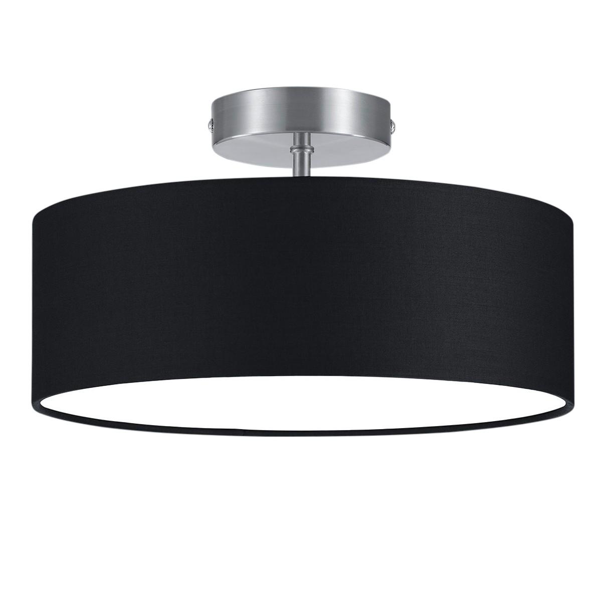 deckenleuchte cirklo stoff metall 2 flammig schwarz. Black Bedroom Furniture Sets. Home Design Ideas