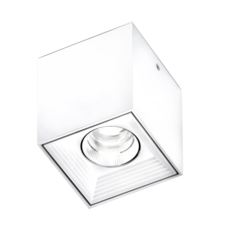 Deckenleuchte Dau ● Aluminium gebürstet ● Weiß- Milan Iluminacion
