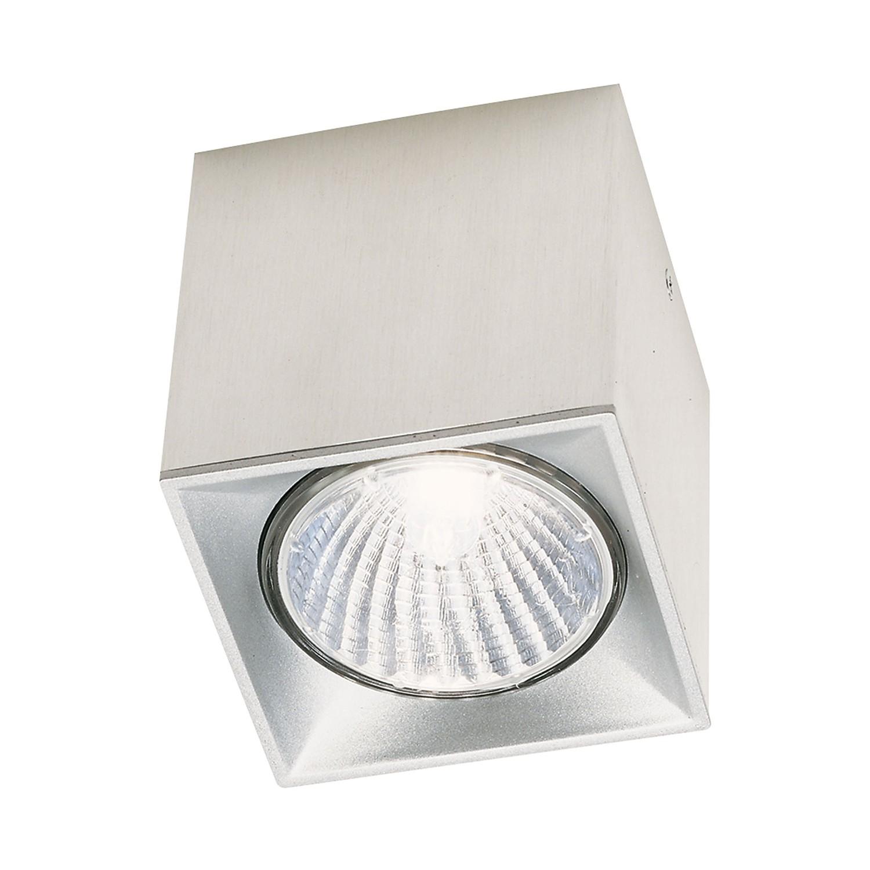 Deckenleuchte Dau Spot ● Aluminium gebürstet ● Silber- Milan Iluminacion