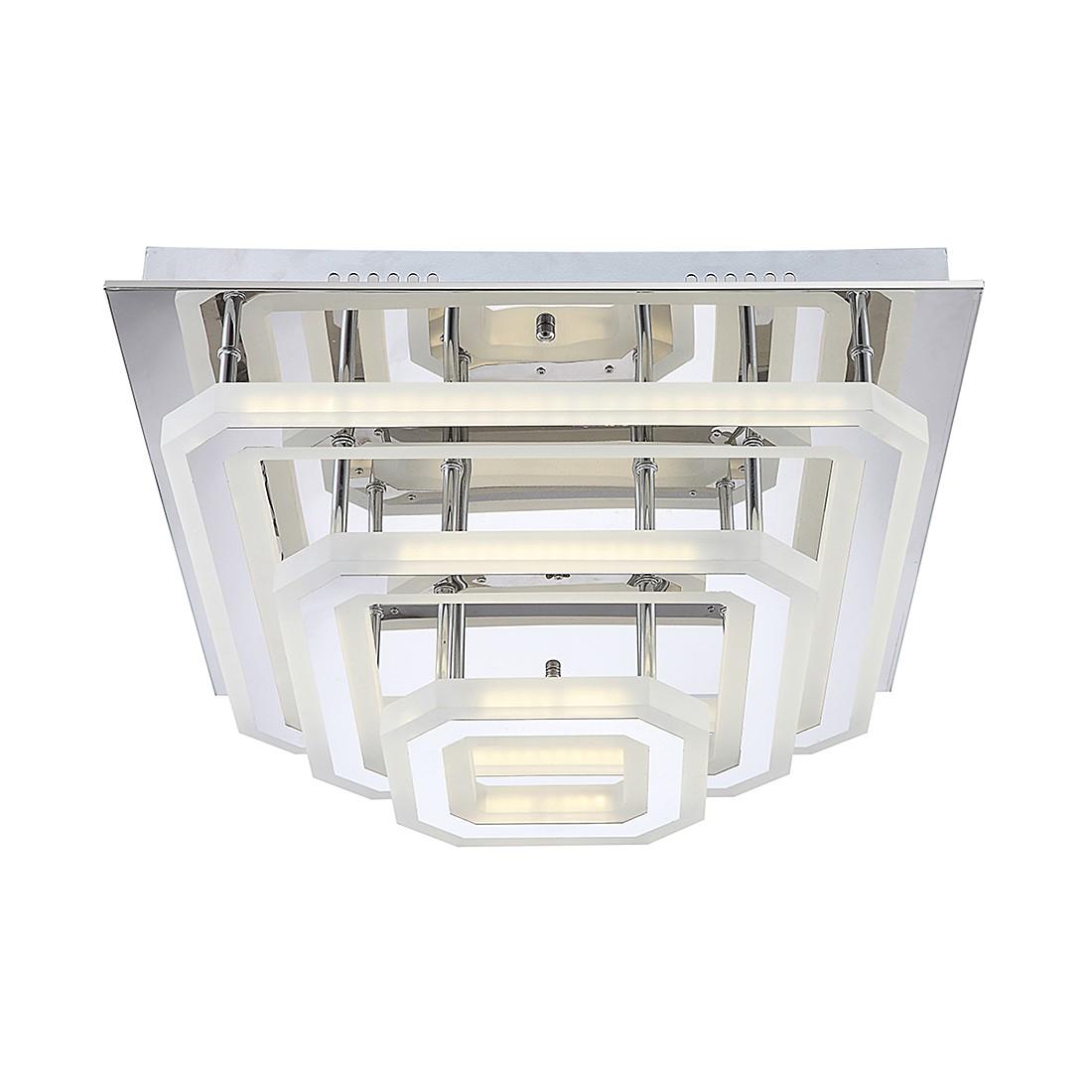 EEK A+, Deckenleuchte DL ACRYL, CHROM, 1XLED – Kunststoff – Silber – 1-flammig, Globo Lighting günstig online kaufen
