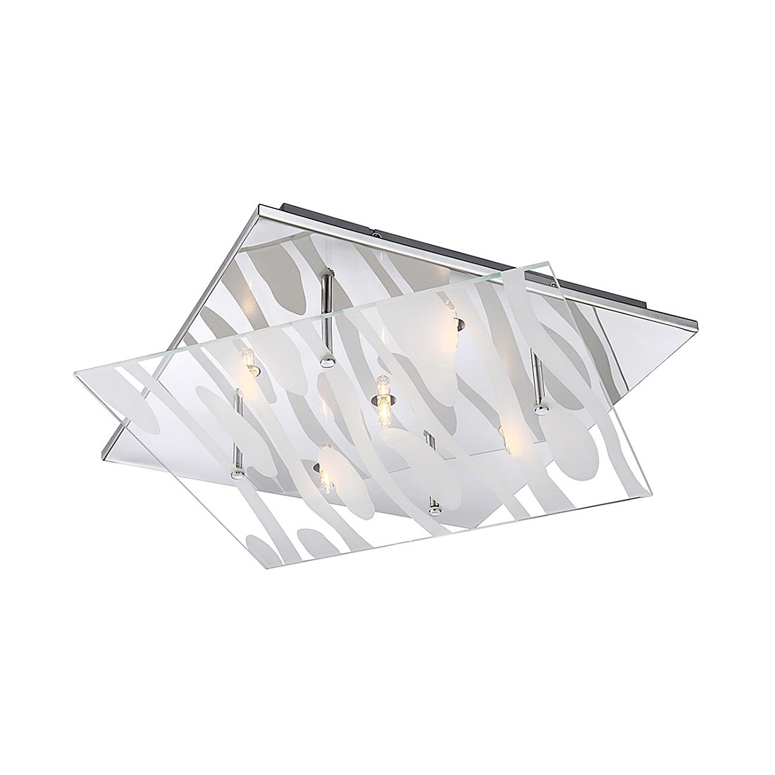 EEK A++, Deckenleuchte DL METALL CHROM, 5XG9 – Metall – Silber – 5-flammig, Globo Lighting günstig kaufen