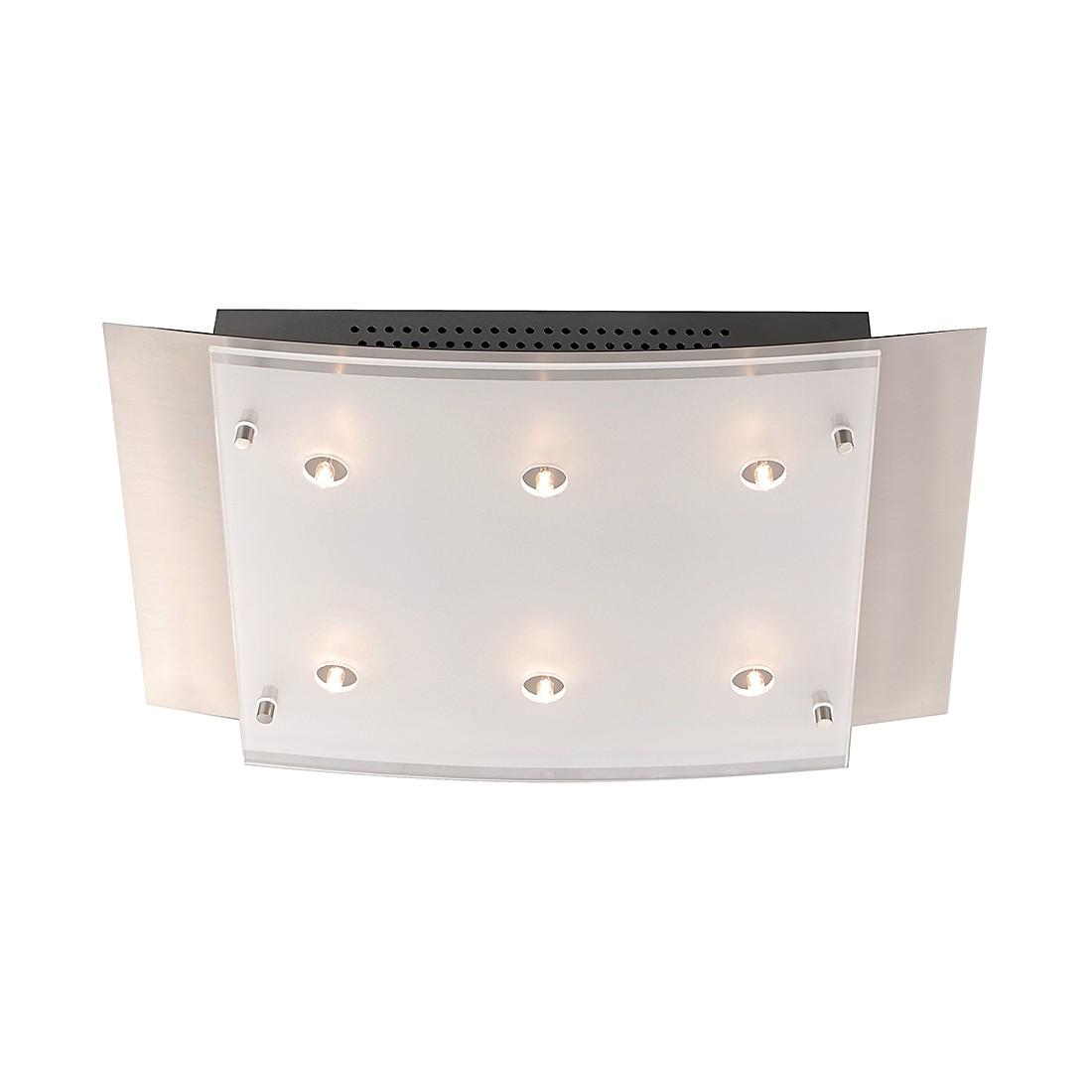 Deckenleuchte Edna - 6-flammig LED Pendelleuchte SHINE - ALU - Nickel - 6-flammig, Fischer Leuchten