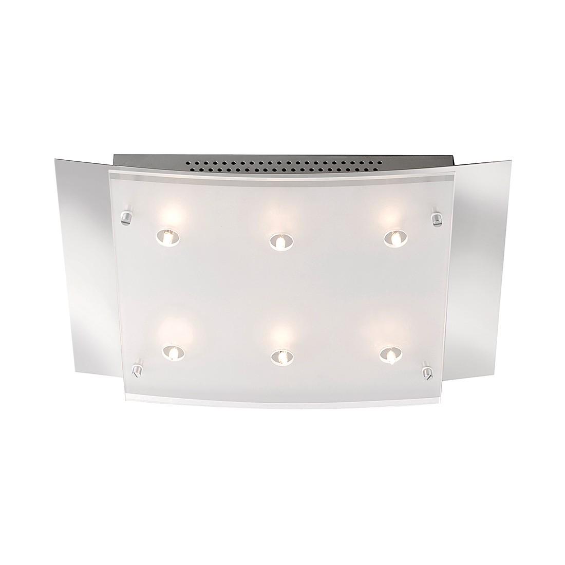 EEK B, Deckenleuchte Edna II – 6-flammig Spotschiene M6 Licht / Mini – Nickel – 3-flammig, Fischer Leuchten bestellen