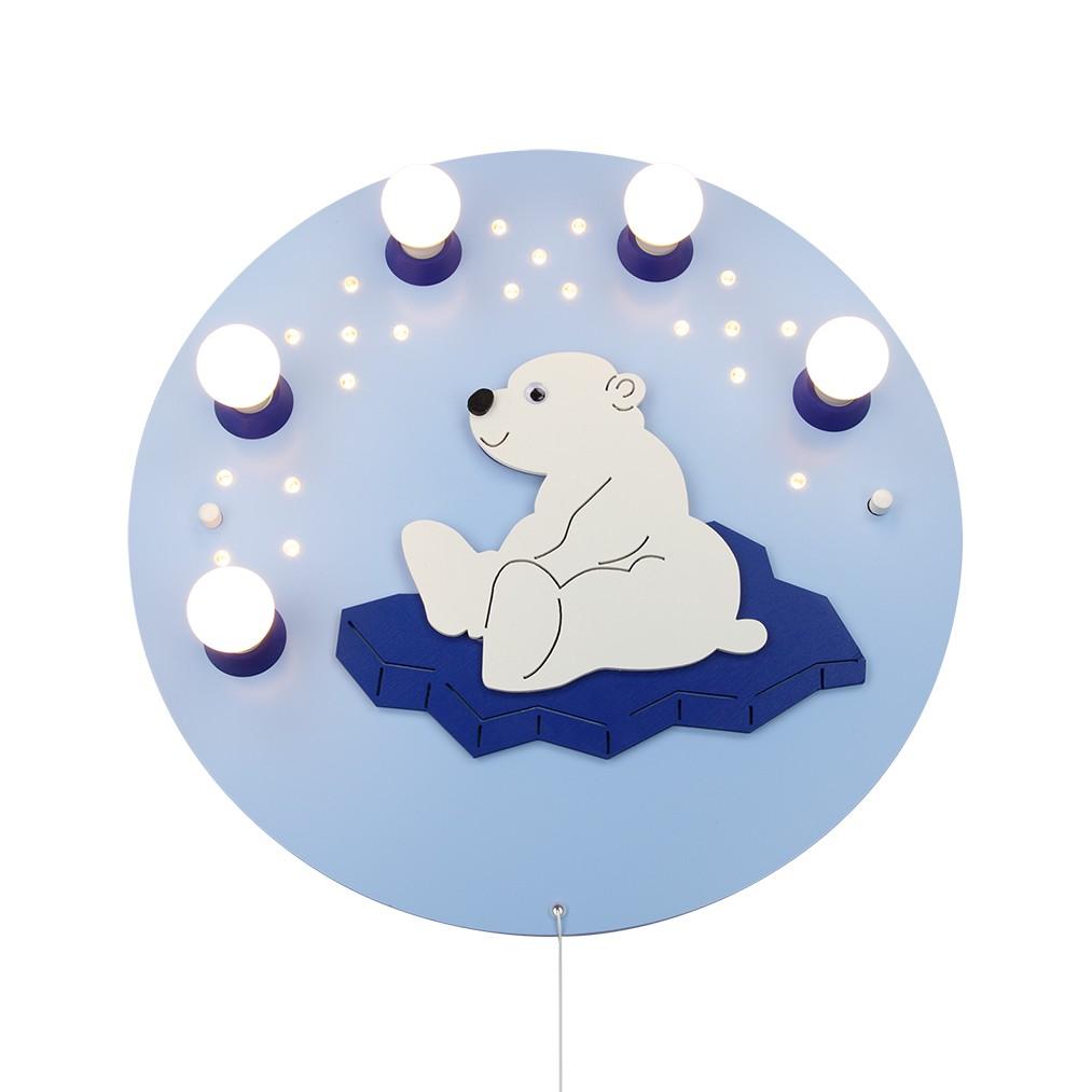 Deckenleuchte Eisbär 5/20 ● Holz ● 5-flammig- Elobra A+