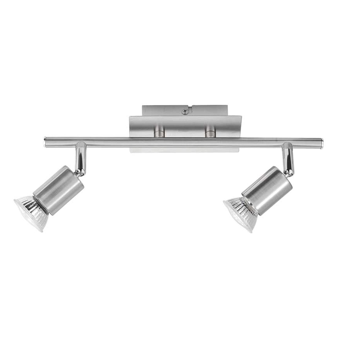 Deckenleuchte Estima by Leuchten Direkt ● Eisen/Stahl ● Silber ● 2-flammig- Leuchten Direkt A++