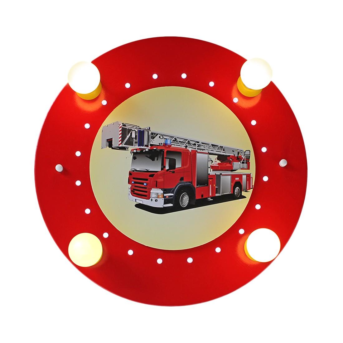 Deckenleuchte Feuerwehrauto 4/20 ● Holz ● 4-flammig- Elobra A+