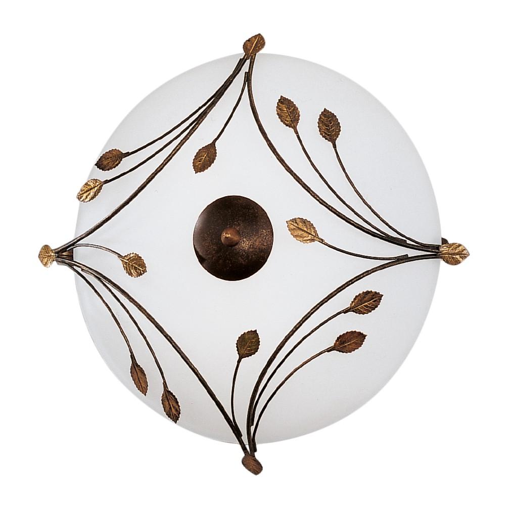 Deckenleuchte Foglie ● Metall/Glas ● Weiß/Bronze ● 2-flammig- Hans Kögl A+