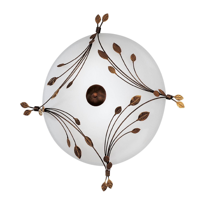 Deckenleuchte Foglie ● Metall/Glas ● Weiß/Bronze ● 3-flammig- Hans Kögl A+