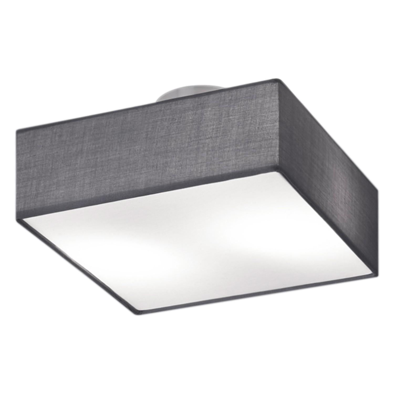 Deckenleuchte shima iv webstoff metall 2 flammig grau for Deckenleuchte grau