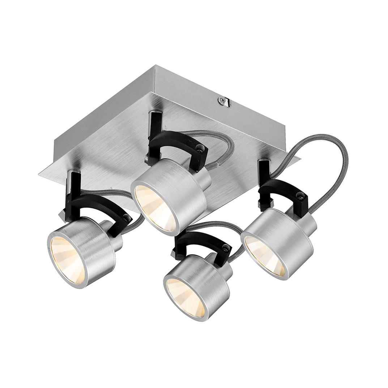 Deckenleuchte HALEY I – Aluminium/Metall – Silber – 4-flammig, Globo Lighting jetzt kaufen