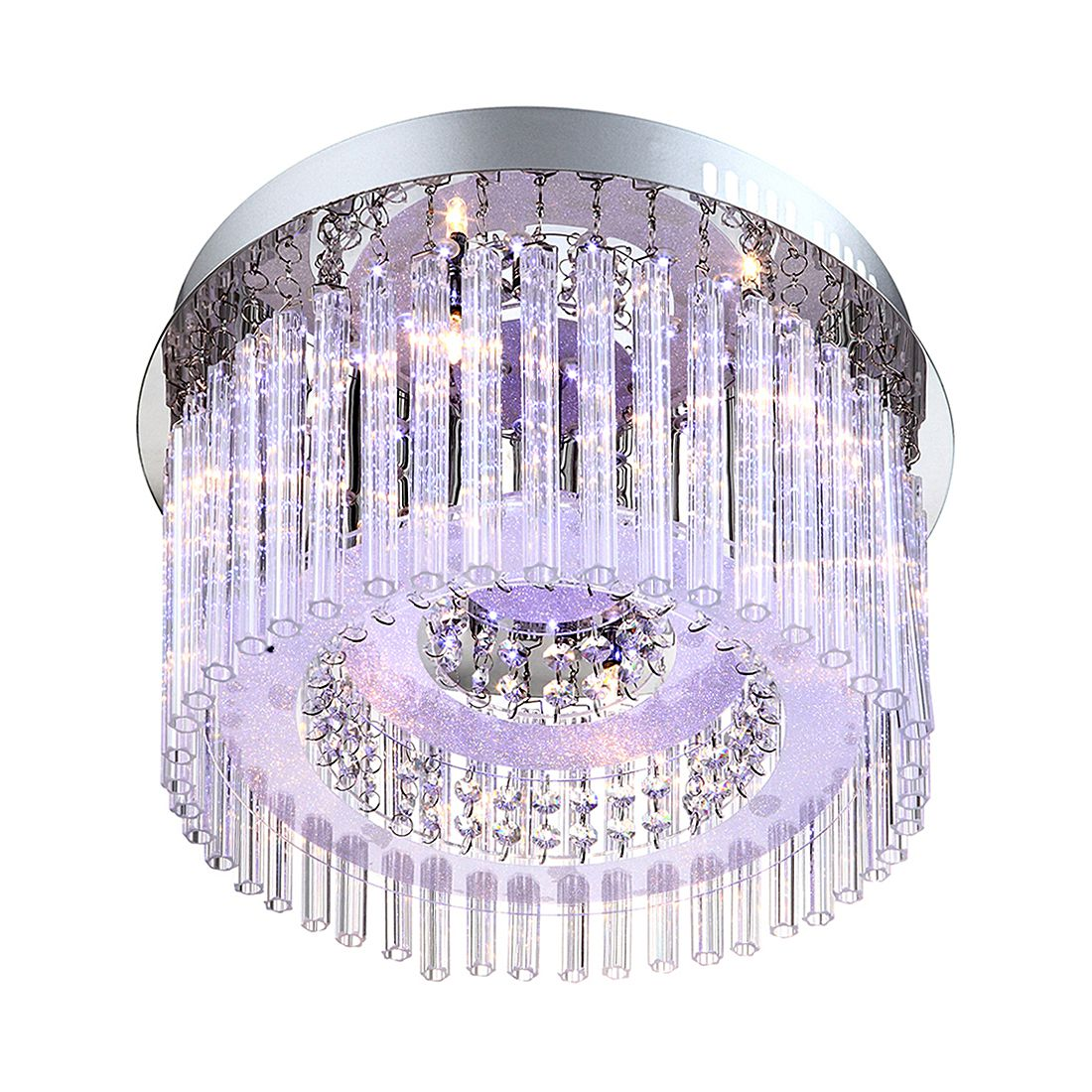 EEK A++, Deckenleuchte JOYCE – Metall/Kunststoff – Silber – 6-flammig, Globo Lighting günstig bestellen