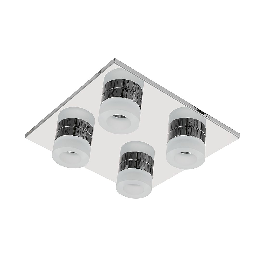 EEK A+, Deckenleuchte LOGAN – Metall/Kunststoff – 4-flammig, Wofi günstig