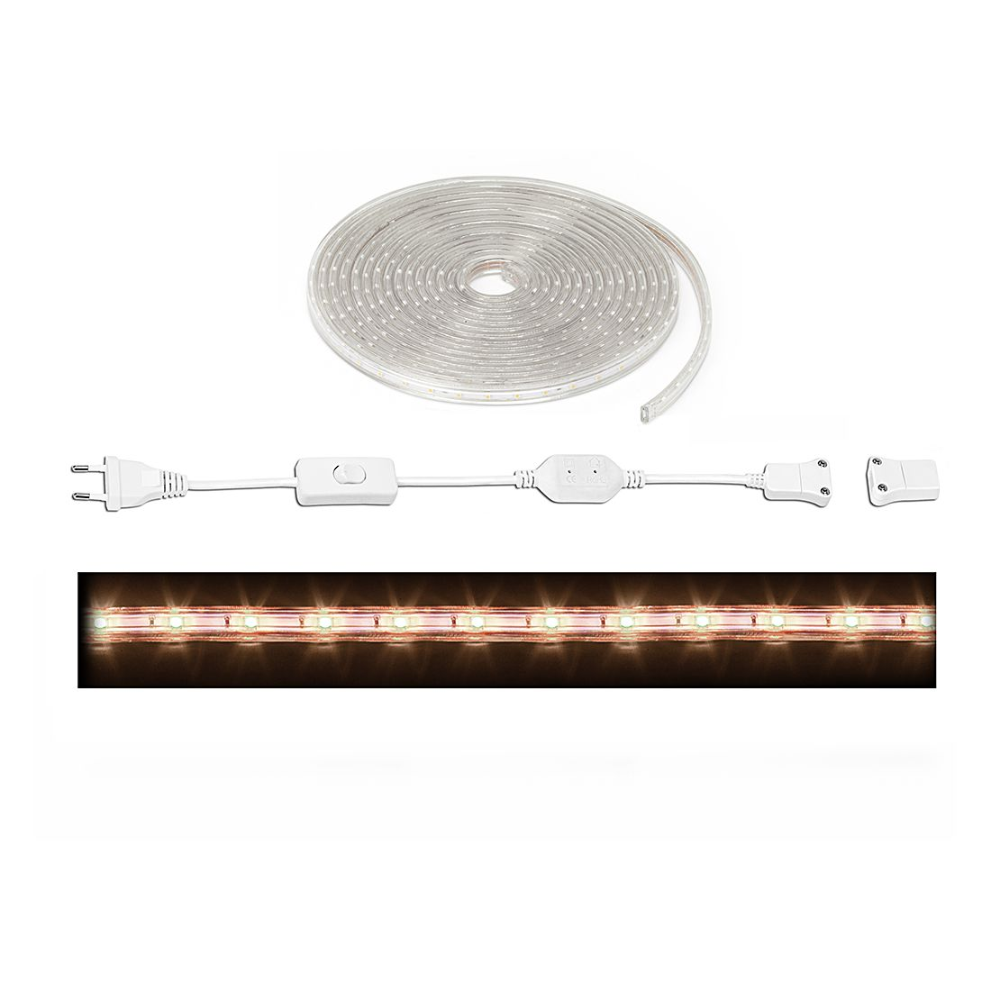 EEK A+, LED-Streifen Sally – Metall/- – Silber – 5-flammig, Brilliant online bestellen