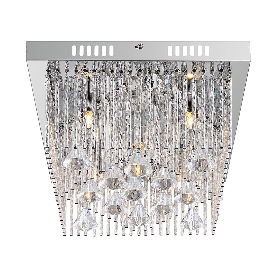 Deckenleuchte MARABOU – Metall – Silber – 5-flammig, Globo Lighting günstig