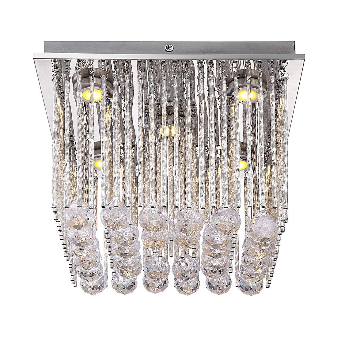 Deckenleuchte MILADY – Metall – Silber – 5-flammig, Globo Lighting online kaufen