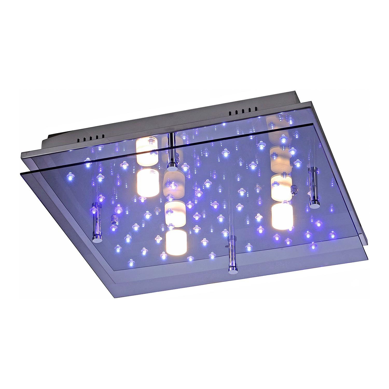EEK A++, LED-Deckenleuchte Nightsky 2 - Eisen - Silber, Paul Neuhaus