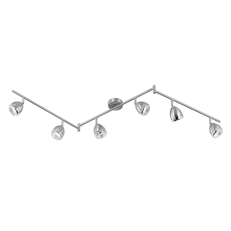 EEK A+, LED-Deckenleuchte Oak - Metall / Acrylglas - 6-flammig, Action