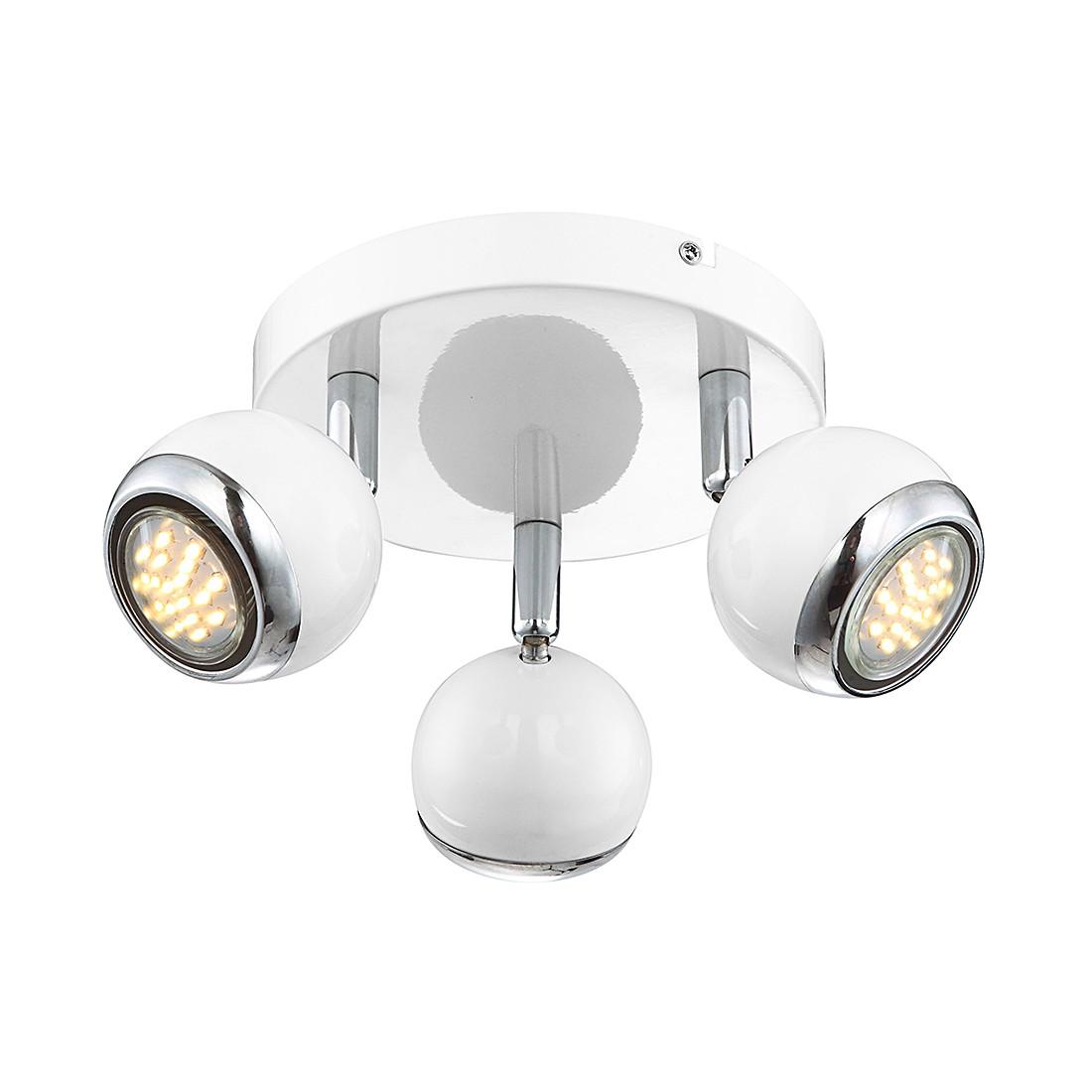 EEK A+, Deckenleuchte OMAN – Metall – Silber – 3-flammig, Globo Lighting günstig