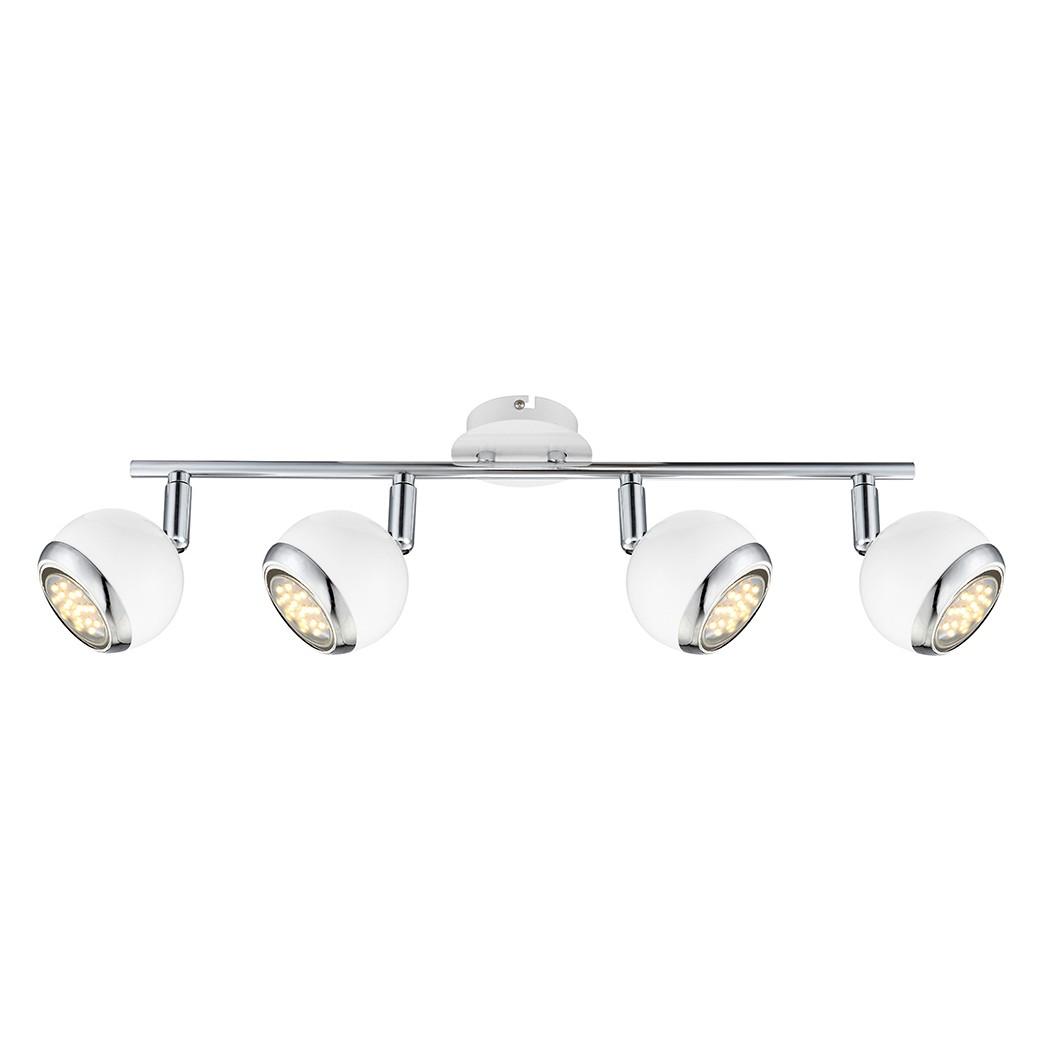 EEK A+, Deckenleuchte OMAN – Metall – Silber – 4-flammig, Globo Lighting bestellen