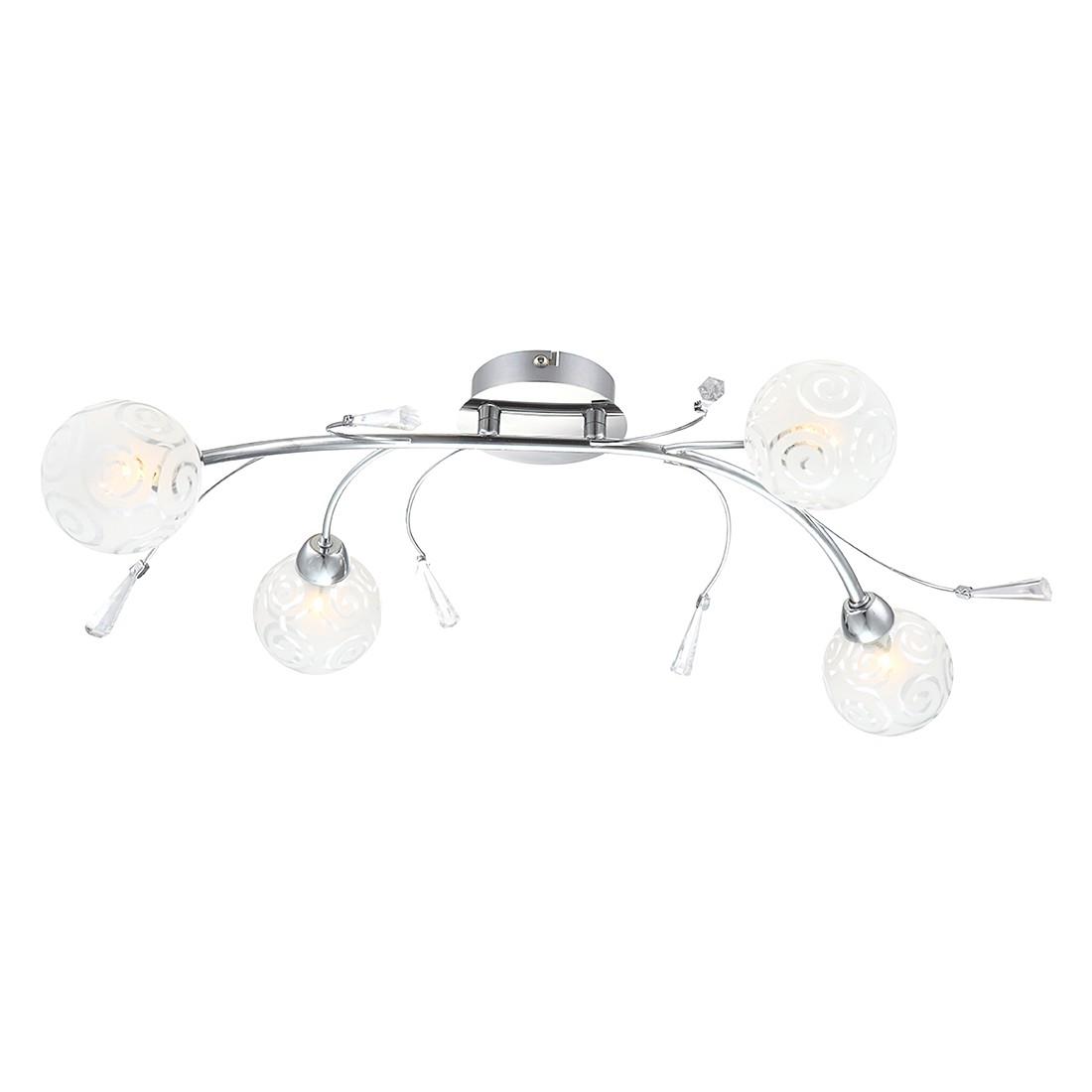 EEK A++, Deckenleuchte ORLENE – Metall – Silber – 4-flammig, Globo Lighting jetzt bestellen