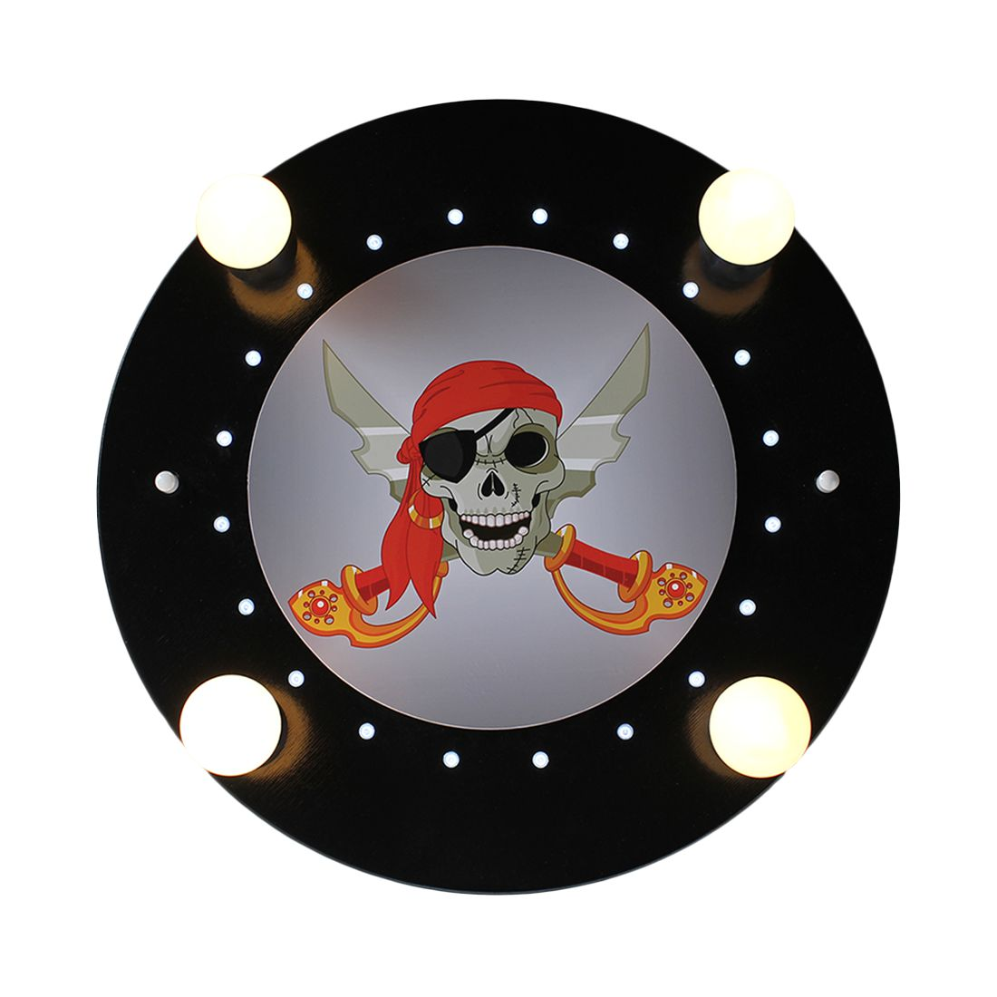 Deckenleuchte Piratenkopf 4/20 ● Holz ● 4-flammig- Elobra A+
