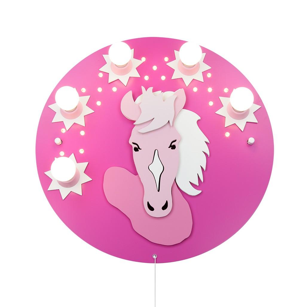 EEK A+, Deckenleuchte Pony 5/20 – Holz – 5-flammig, Elobra günstig online kaufen