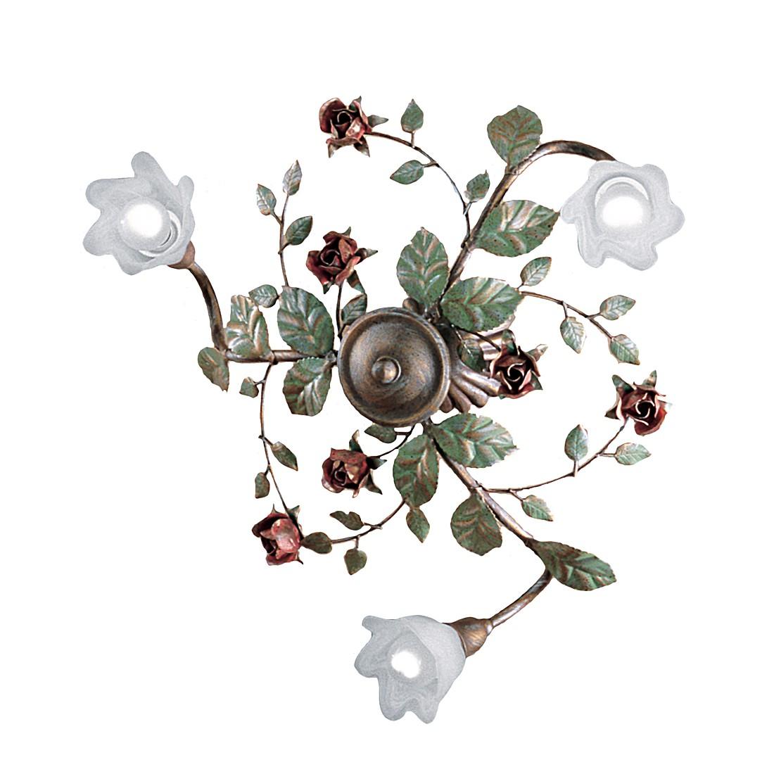 Deckenleuchte Rosaio ● Metall/Glas ● Bronze/Weiß ● 3-flammig- Hans Kögl A+