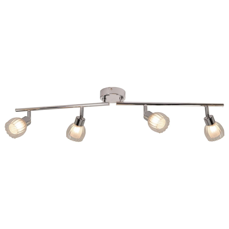 deckenleuchte rose metall glas silber 4 flammig n ve c g nstig online kaufen. Black Bedroom Furniture Sets. Home Design Ideas