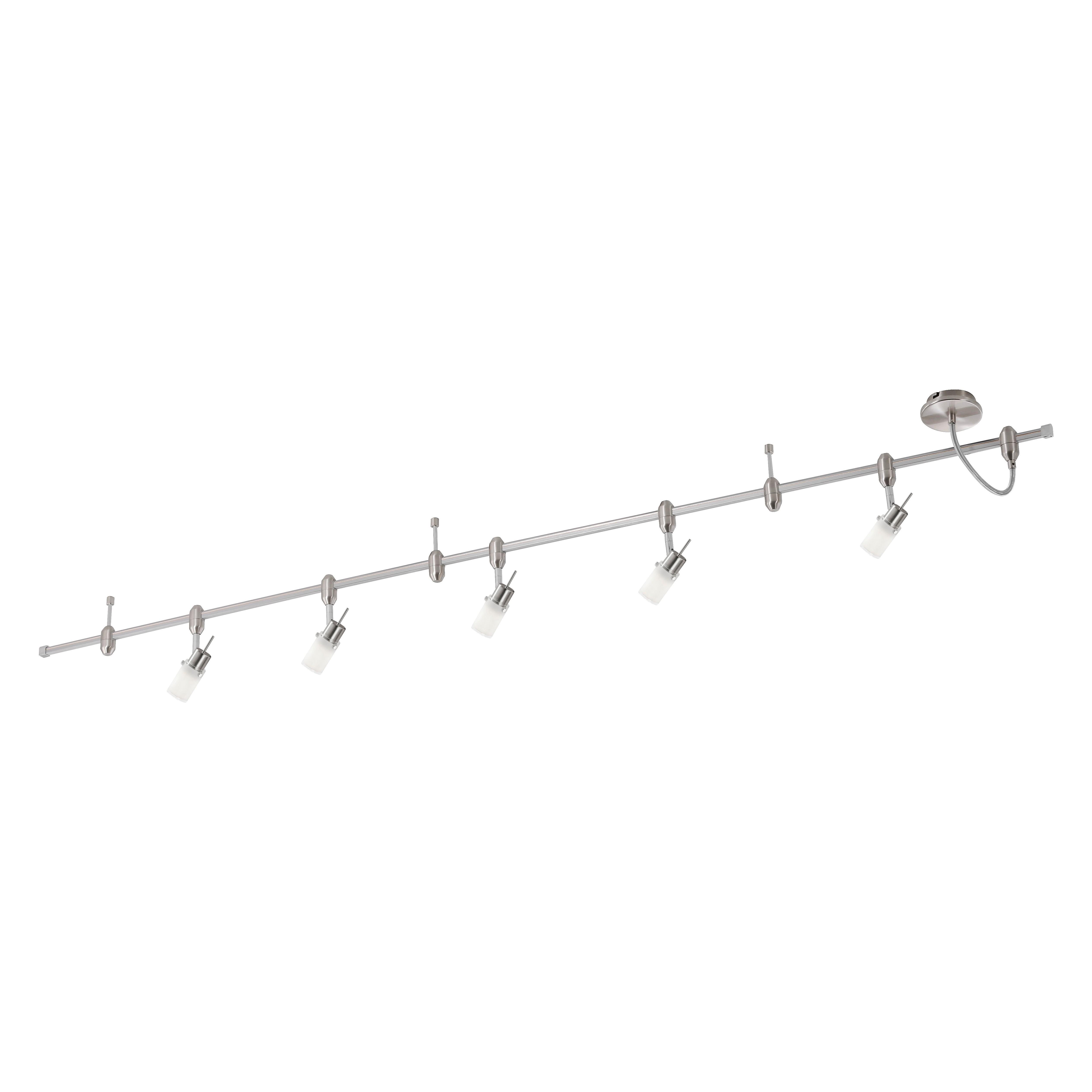 Deckenleuchte Schienensystem GRANBY – Stahl/Glas – 5-flammig, Paul Neuhaus günstig