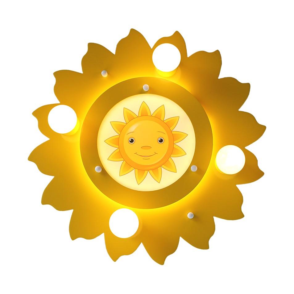 Deckenleuchte Sonne 4/54 ● Holz ● 5-flammig- Elobra A+