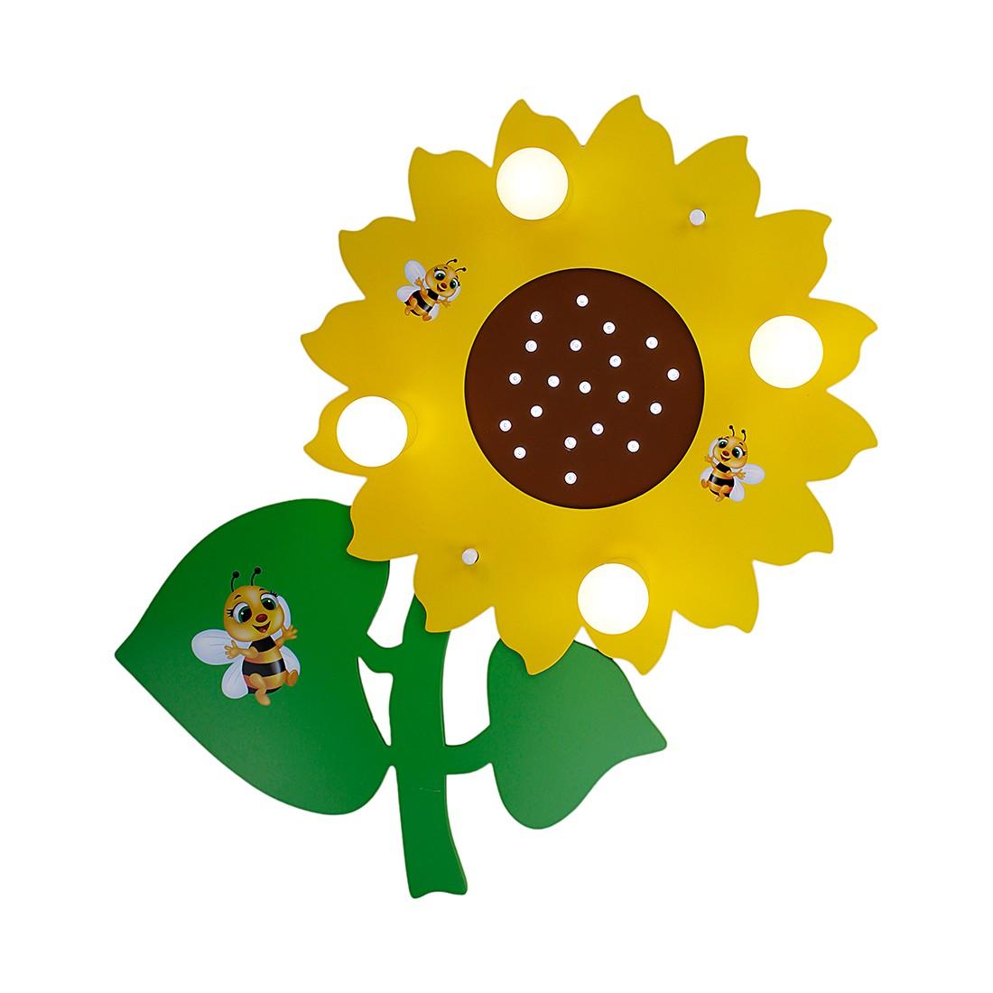 Deckenleuchte Sonnenblume 4/20 ● Holz ● 4-flammig- Elobra A+