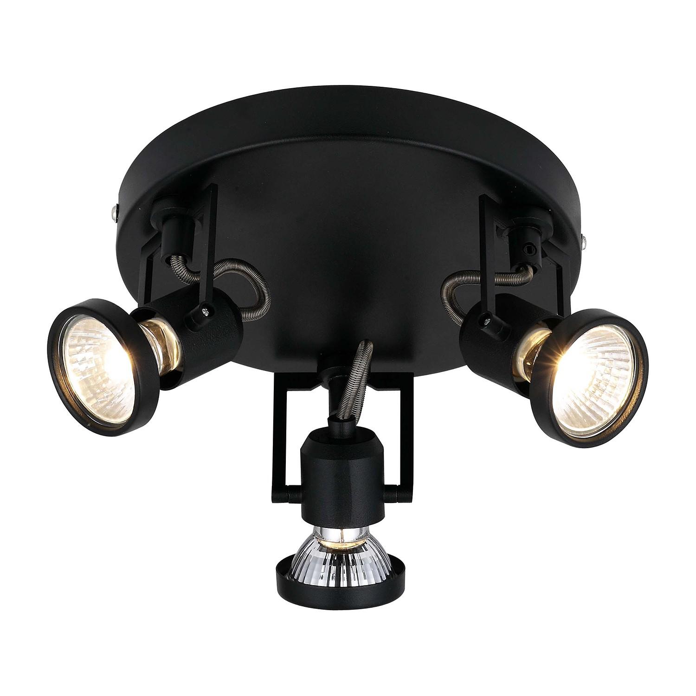 deckenleuchte spectra 3 flammig schwarz metall brilliant a online kaufen. Black Bedroom Furniture Sets. Home Design Ideas