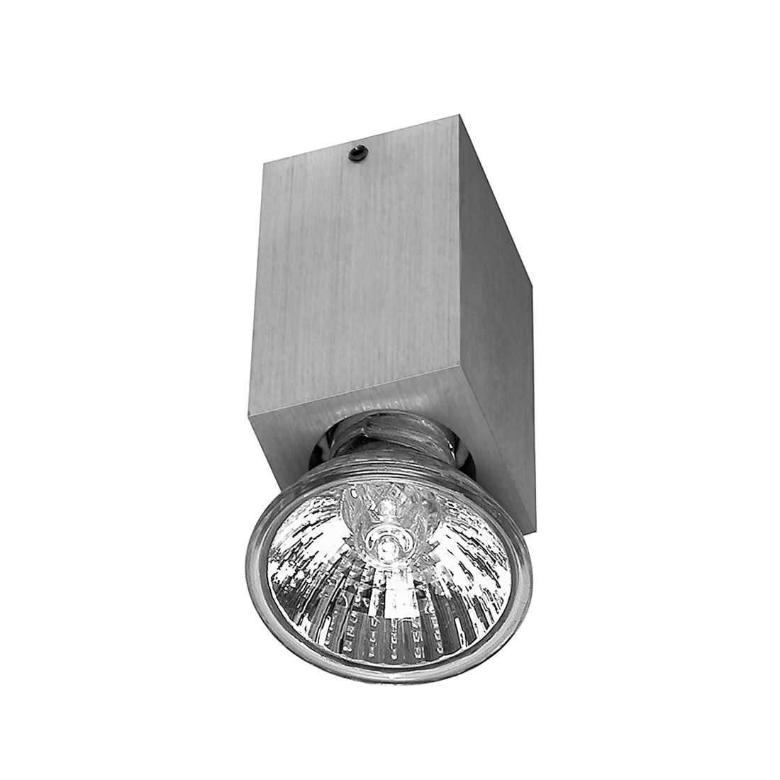 Deckenleuchte Bloc – 1-Flammig Eckig – Metall Alu-Gebürstet, s`luce jetzt kaufen