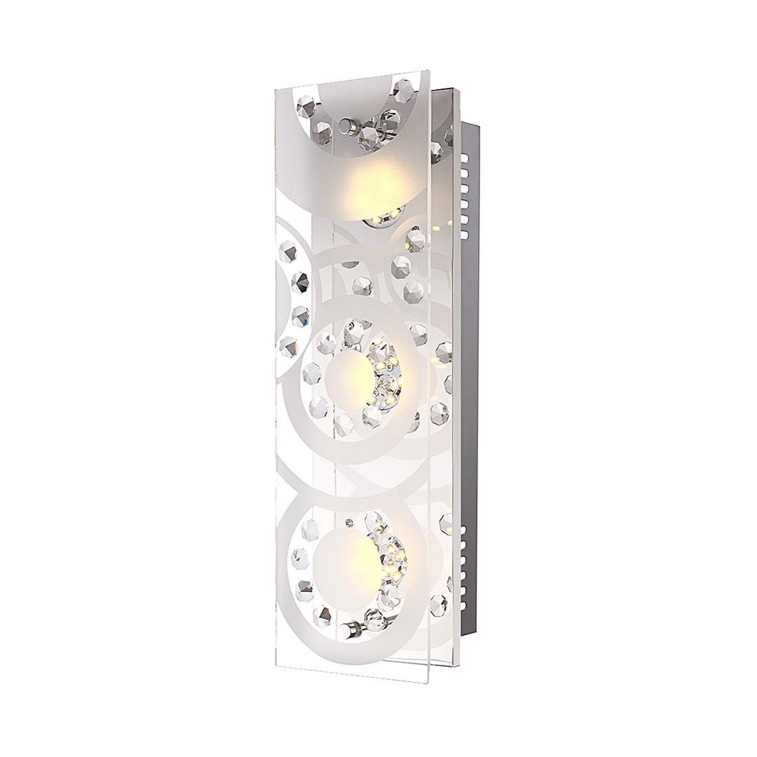 Deckenleuchte TISOY – Metall/Glas – 3-flammig, Globo Lighting günstig online kaufen