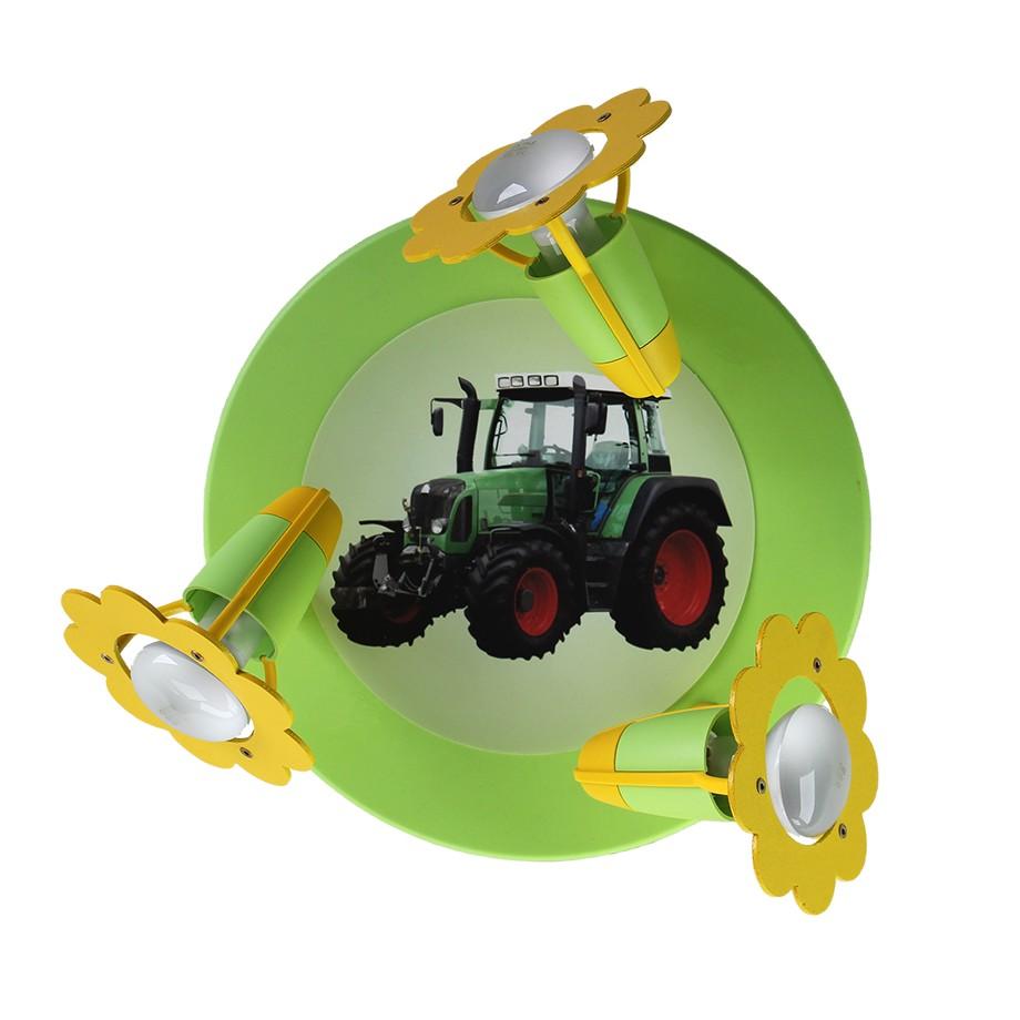 Deckenleuchte Traktor ● Holz ● 3-flammig- Elobra A++