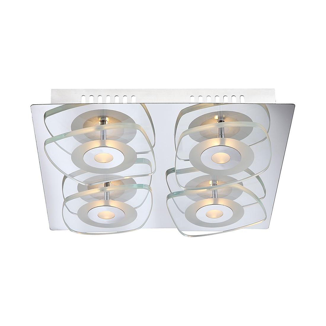 Deckenleuchte ZARIMA – Metall/Glas – 4-flammig, Globo Lighting online kaufen