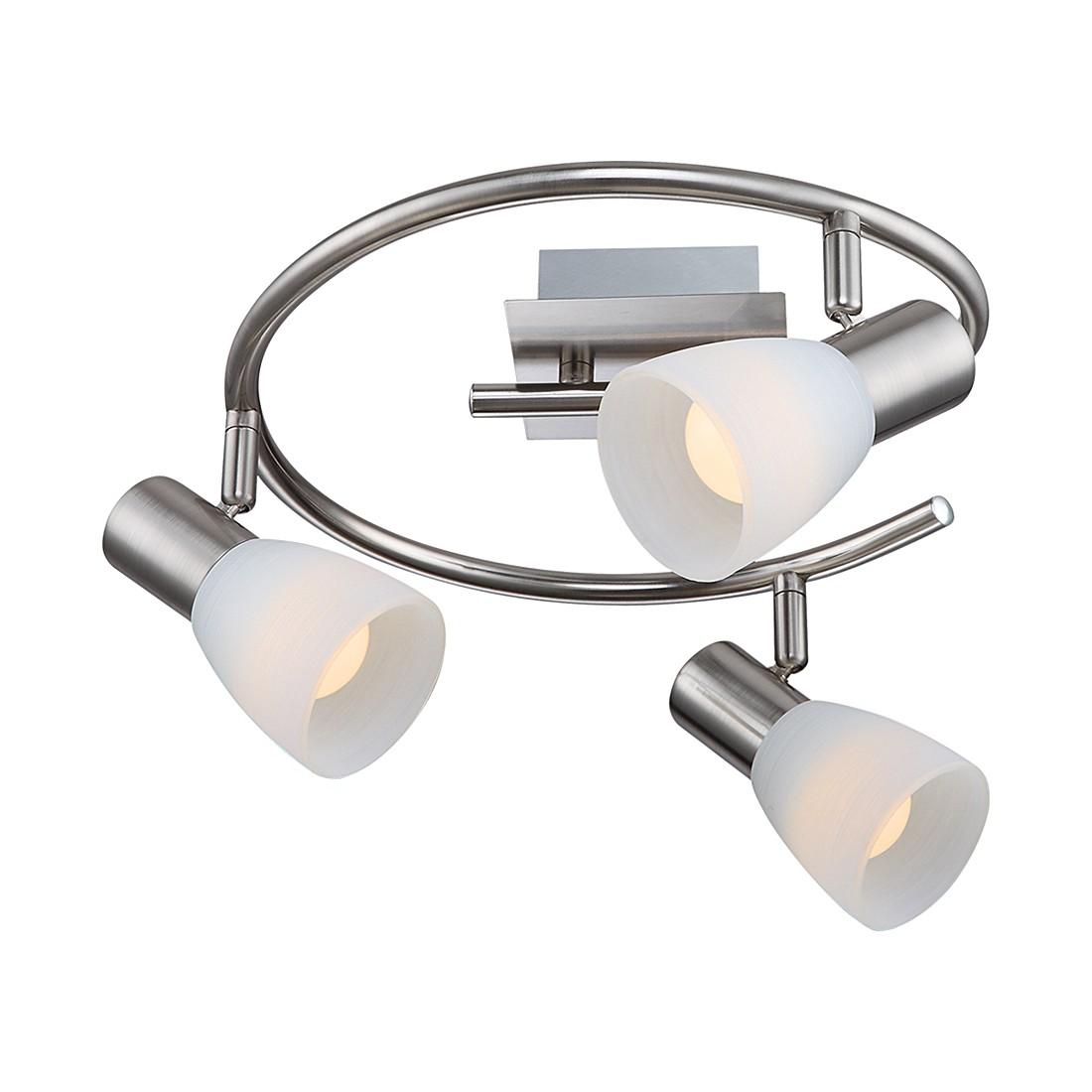 EEK A++, Deckenstrahler PARRY I – Nickel/Glas – 3-flammig, Globo Lighting jetzt bestellen