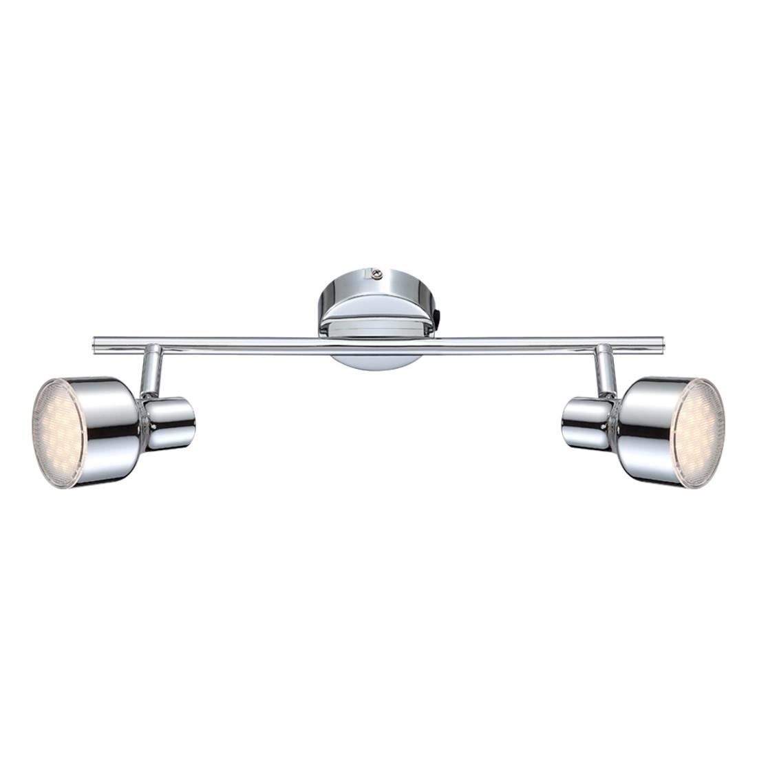 EEK A+, Deckenstrahler ROIS – Metall/Acryl – 2-flammig, Globo Lighting günstig online kaufen