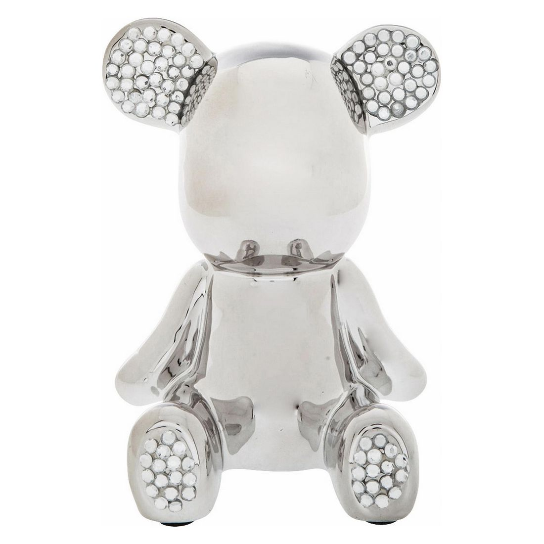 Deko Figur Funky Bear Crystal Sit – Dolomit, Acryl Grau, Kare Design bestellen
