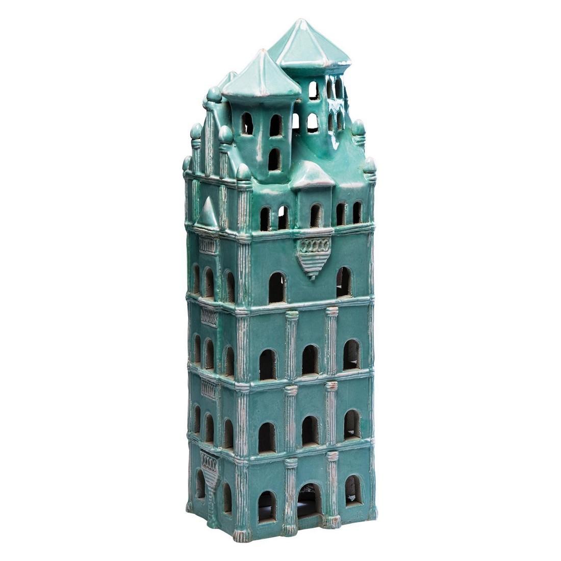 Deko Objekt Frame House Green – Steingut glasiert, Farbe Gruen, Kare Design kaufen