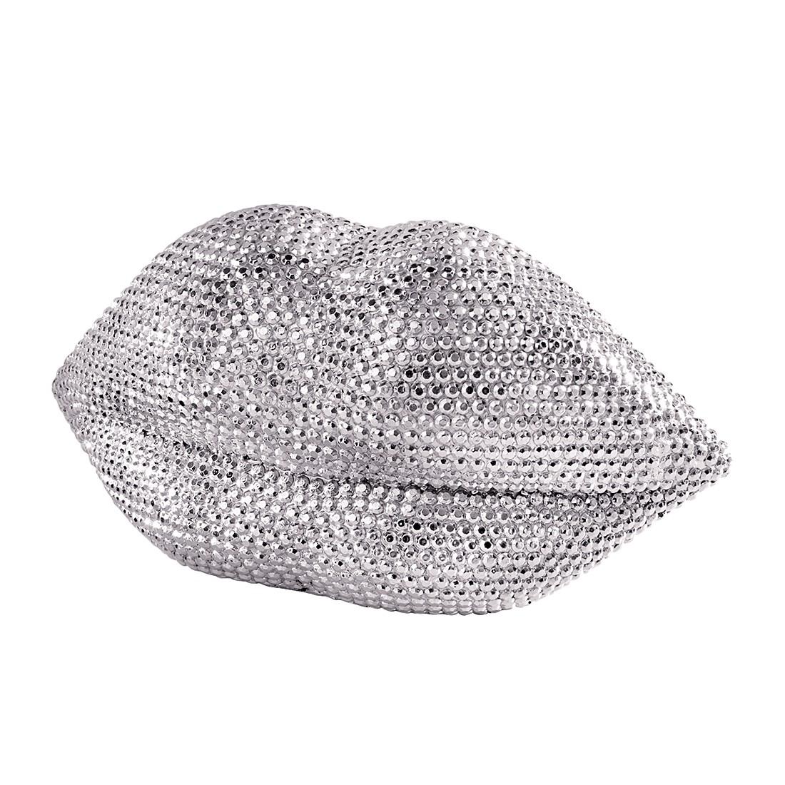Deko-Objekt Mund – Polyresin – Silber, PureDay online kaufen