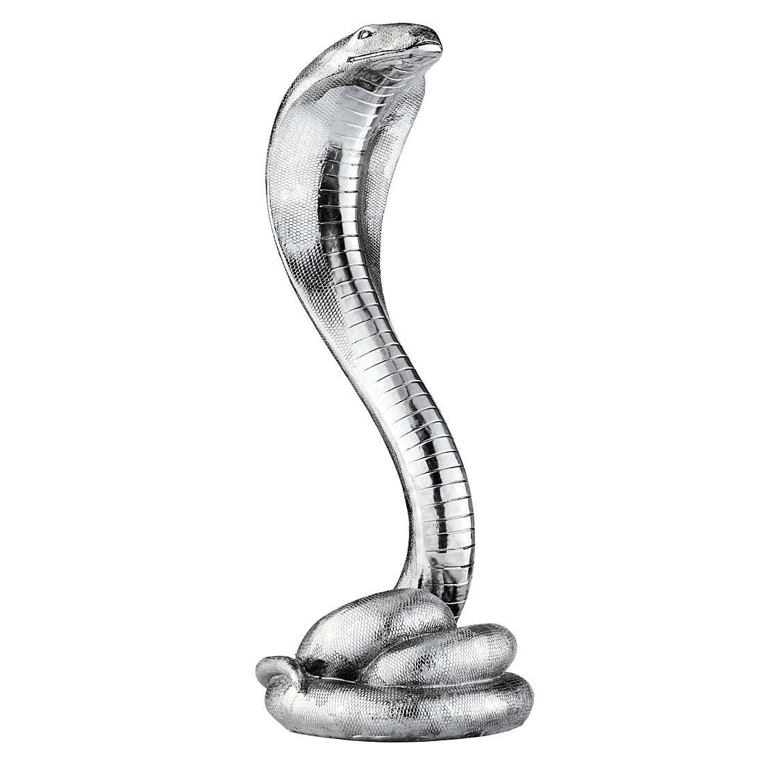 Deko-Schlange Evil – Kunststein – Silber, PureDay günstig kaufen