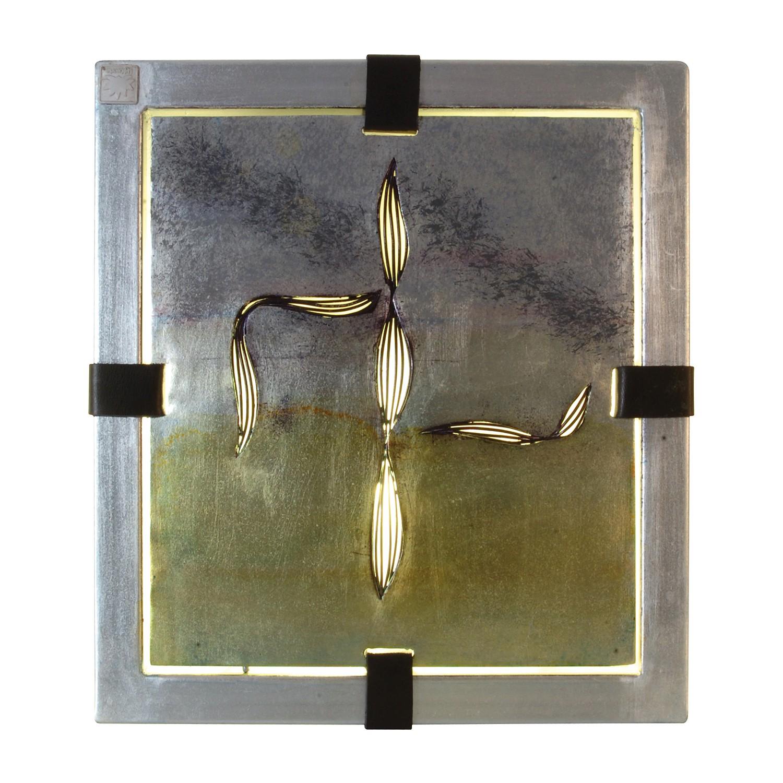 EEK A++, Dekoartikel Bankok Silber - Metall - 1-flammig, Näve