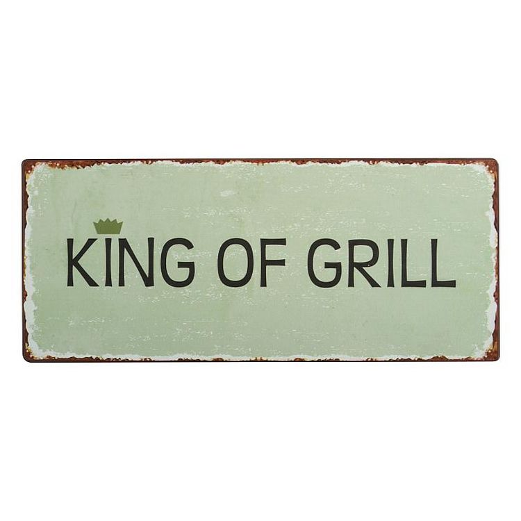 Dekoschild – Metall – King of Grill, Ib Laursen günstig bestellen
