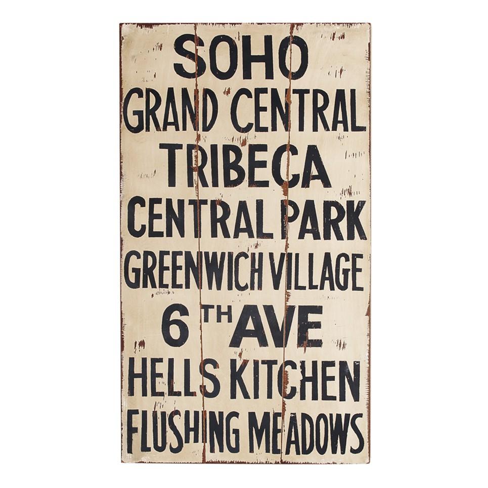 Dekoschild Tribeca – Holz – Beige/Schwarz, furnlab jetzt kaufen