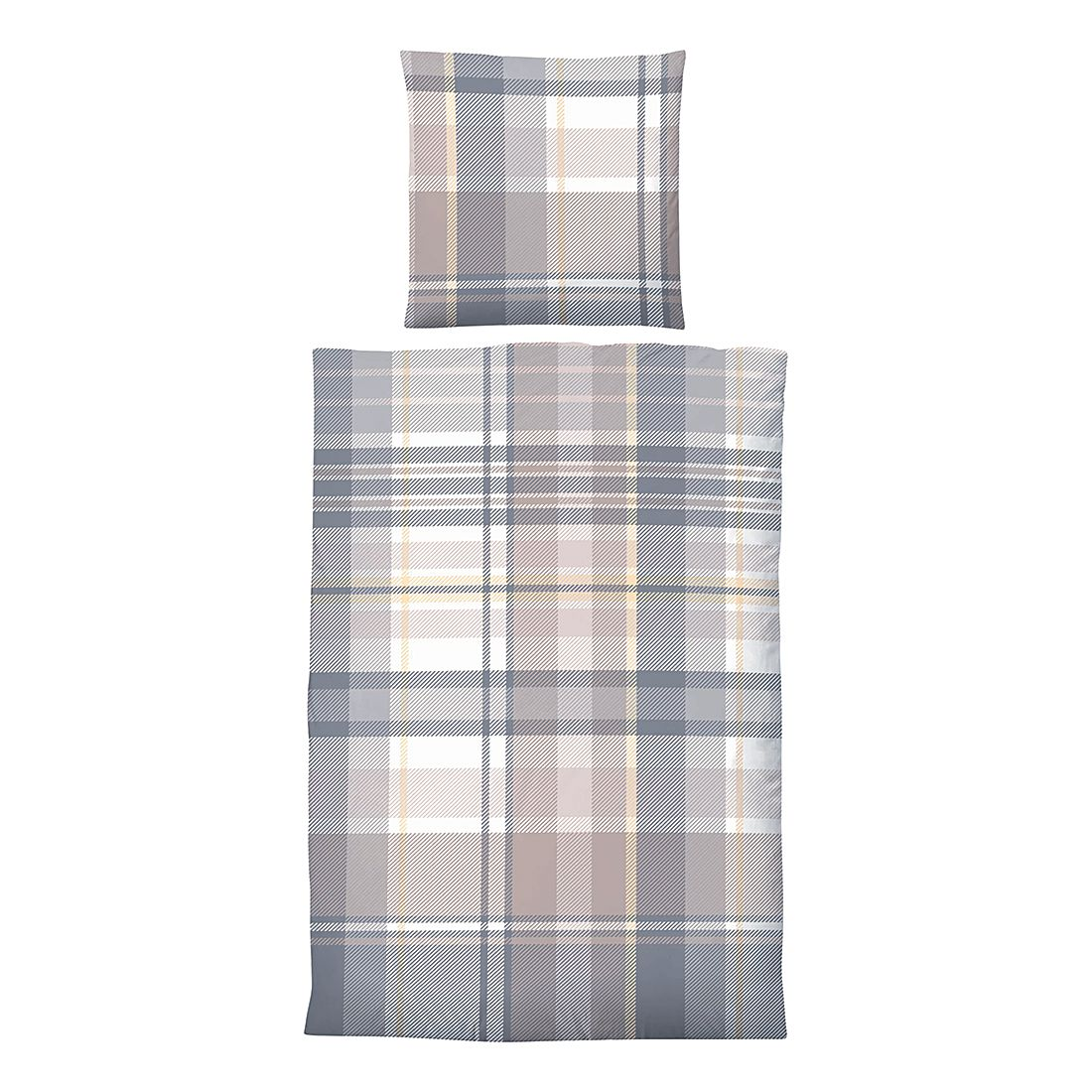 deluxe biber bettw sche christiane grau 155 x 220 cm kissen 80 x 80 cm biberna jetzt kaufen. Black Bedroom Furniture Sets. Home Design Ideas