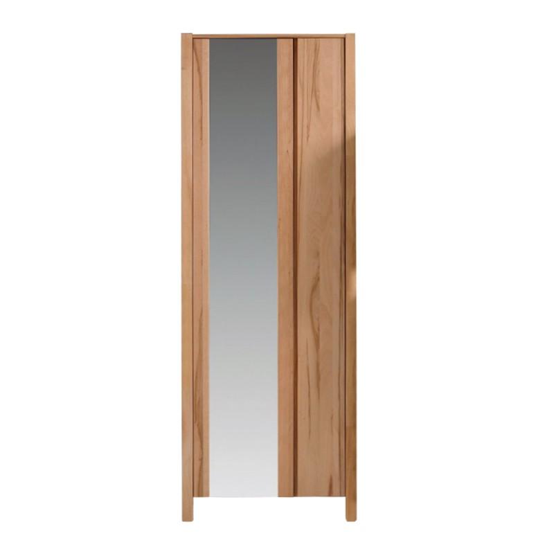 Dielenschrank Ayana - mit Spiegeltür - Massivholz (Kernbuche massiv