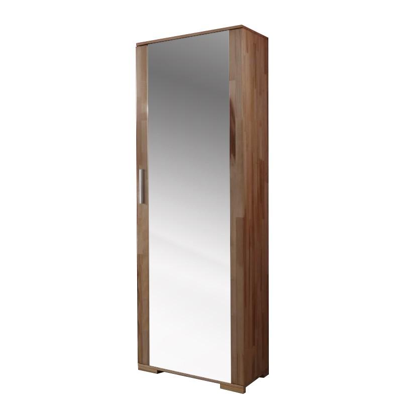 Dielenschrank Joey - mit Spiegeltür - Kernbuche massiv