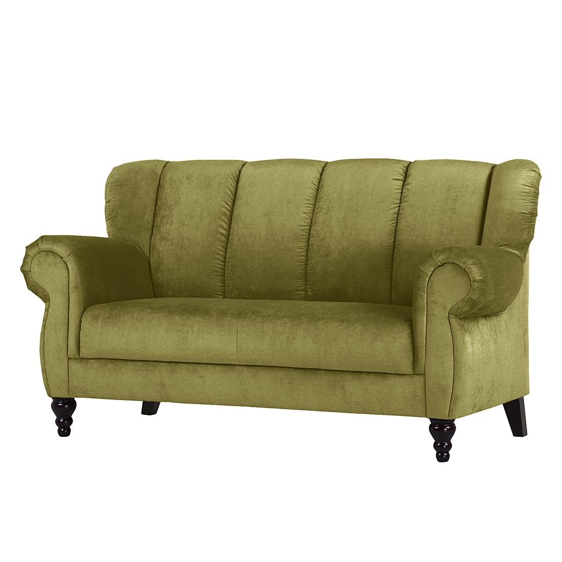 Diningsofa Comodo I (2-Sitzer) – Microfaser Dunkelgrün, Maison Belfort online bestellen